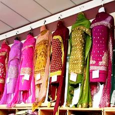 Thread Embroidered Designer Punjabi Suit Indian Products Directory