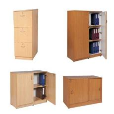 Wooden Finished Storage Cabinet