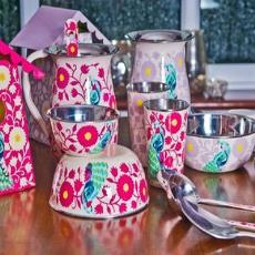 Smooth Finished Hand Painted Enamelware
