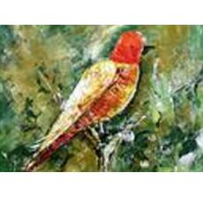 Decorative Abstract Bird Painting