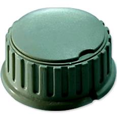 Round Collet Knob With Curved Cap