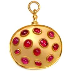 Oval Shaped Ruby Pendant