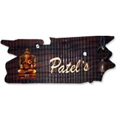 Sleeper wood nameplate with mural indian products directory for Mural name plate