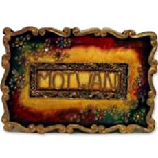 Mural name plate with design border indian products for Mural name plate designs