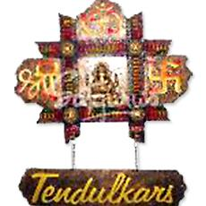 Shree om swastik mural name plate indian products directory for Mural name plate