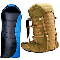 Synthetic Fabric Made Rucksacks And Sleeping Bags