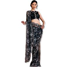 Black chantilly lace saree indian products directory black chantilly lace saree aloadofball Gallery