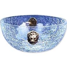 Crystal Made Bowl With Crackle Glass Finish