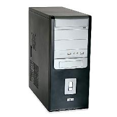 Steel Made Silver Black Coloured Computer Cabinet