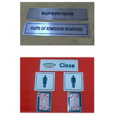 Steel Etching Name Plate