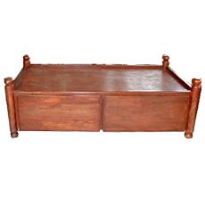 Divan type sheesham wood bed indian products directory for Divan bed india