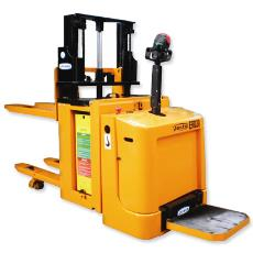 Electric Double Pallet Stacker With Multifunctional Tiller Head