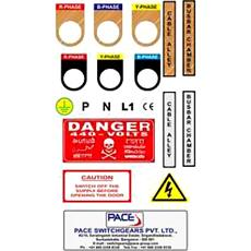 Electrical Panel Board Stickers - Indian Products Directory