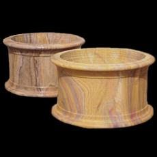 Round Shaped Stone Carved Planters