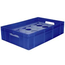 Flat Type Plastic Crate With Round Partition