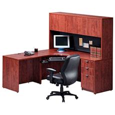 Wooden Computer Cabinet With Bookcase