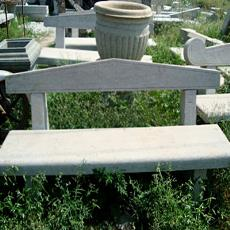 Stone Carved Garden Bench