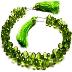 Micro Faceted Bottle Green Coloured Bead