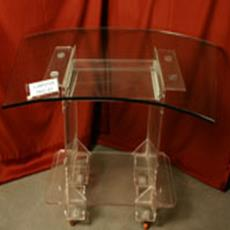 Glass Top Computer Trolley