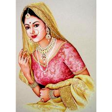 colourful rajasthani woman painting indian products directory