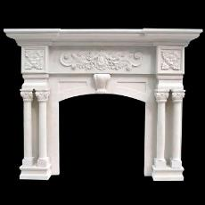Intricately Designed Marble Fireplace