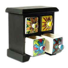 Multicolour Combined Hand Crafted Drawer