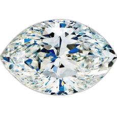 Smooth Finished Marquise Cut Diamond