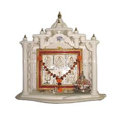 Glossy Finished White Marble Temple