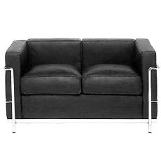 Black Coloured Sofa With Arm Rest