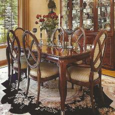 Rectangular Shaped Intricately Designed Dining Table
