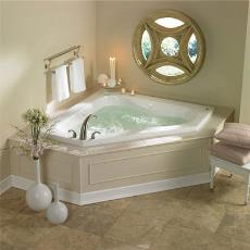 Intricately Designed Corner Jacuzzi Bath Tub