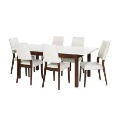 White Coloured Dining Table And Chair Set
