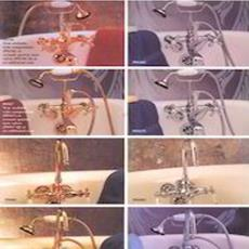 Smooth Finished Leg Tub Faucet