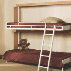 Bunk Bed With Railing And Ladder