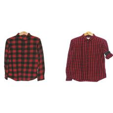 Black And Red Coloured Shirt