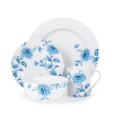 White And Blue Floral Designed Tableware