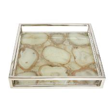 Light Weight Agate Tray