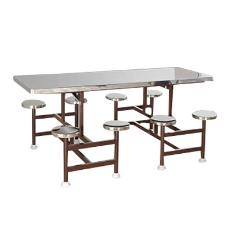 Stainless Steel Dining Table With Seats